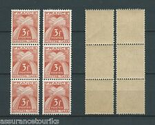 TAXES - 1943-46 YT 73 bandes - TIMBRES NEUFS** LUXE