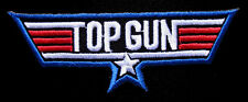 US NAVY AIR FORCE TOP GUN LOGO Embroidered Iron on Patch Free Postage