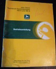 John Deere Hochdruckballenpresse 456A + 466A Anleitung