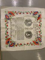 University of Birmingham 1909 Opening Ceremony Tissue Flyer Souvenir