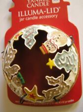 Yankee Candle Frosted GingerBread Reindeer Tree Cookies Illuma Lid Topper New