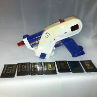 Power Rangers Beetleborgs DATA LASER GUN BLASTER- BANDAI 1997 7 Cards Working