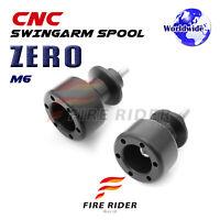 ZERO 6mm Swingarm Crash Protecion Spools For Yamaha YZF R6S 03-08 04 05 06 07