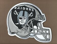 NEW 7 X 9 INCH OAKLAND RAIDERS HELMET IRON ON PATCH FREE SHIPPING