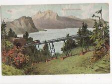 Rigi Schnurtobelbruecke Officielle Postcard Switzerland 391a