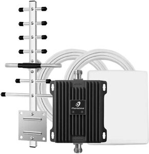 Cell Phone Signal Booster Band 2/5 850/1900MHz for Home Office Use Multi Devices