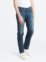 Genuine LEVIS PERFORMANCE 514 Blue Straight Fit Stretch Mens Jeans Dark Wash