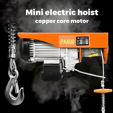1800 Lb Electric Wire Hoist Winch Hoist Crane Lift 110v 40 Ft With Remote Control