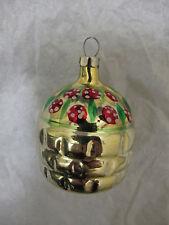Russian Soviet Christmas Tree Glass Ornament Basket with Berries Корзинка Ягодка
