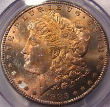 1883-CC Morgan Dollar. PCGS MS64. Energized  Golden - Orange Toning. Very Nice