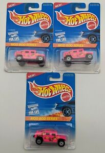 SEALED Hummer Pink Lot of 3 Hot Wheels Mod Bod Series Diecast Cars 1/64
