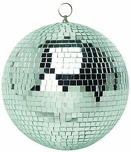 50mm Shiny Silver Party Disco Mirror Ball Club DJ New - Ideal for Bedroom