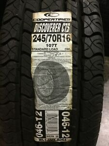 1 New 245 70 16 Cooper Discoverer CTS Tire