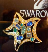 SWAROVSKI Swan Signed Crystal Starfish BROOCH PIN