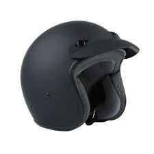 Matte Black 3/4 Open Face ABS DOT Adult Helmet Motorcycle Scooter S/M/L/XL HOT