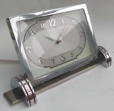 SUPERB ART DECO GERMAN DESK ALARM CLOCK by D.R.G.M