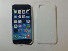 "Custodia cover white S-line per apple iphone 6 6S da 4.7"" silicone tpu bianca"