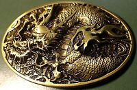 Antique Bronze color DRAGON Western style Belt Buckle Full Metal US seller