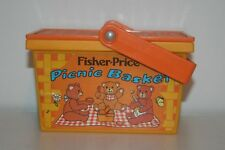 FISHER PRICE PICNIC BASKET 1974   No 677 with Accessories