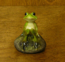 Top Collection Enchanted Story Fairy Garden #4275 FROG on STONE, NEW/Box