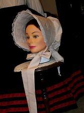 Civil War Dress Victorian Style Lovely Lady'S Tan 100% Cotton Slat~Sun Bonnet