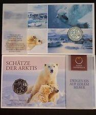 5 euros AUSTRIA - silver - ARCTIC ADVENTURE – ABENTEUER ARKTIS - 2014 - Bear