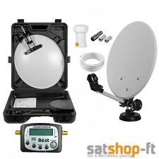 Camping Digitale Mobile mini SAT Anlage Saugfuß Schüssel 4K HD + Best Satfinder