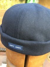 Saint James Navy Skull Cap. One size fits almost all. Marin Miki A,  soft & warm