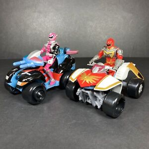 Power Rangers SPD Mystic Force Quad Vehicle & Red Pink Figures Lights Sounds Toy