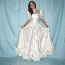 Satin BRAUTKLEID mit Spitze* XS * Hochzeitskleid* A-Linie Ballkleid* Maxikleid