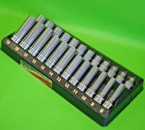 """UNUSED Snap On Tools 3/8"""" Drive 24pc Deep & Shallow Socket Set (626) rrp £382"""