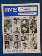 Elvis Presley - Fan Club Magazine - June / July 1977