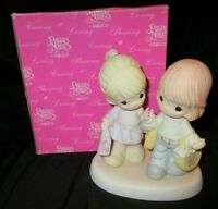 "Enesco Precious Moments ""Friends Of A Feather Shop Together"" 114019 2003"