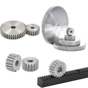 Modul 1 Zahnräder & Zahnstangen, Stirnzahnrad aus Stahl C45, 12 bis 150 Zähne