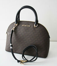 Michael Kors Bag Emmy LG Dome Satchel Signature Brown Bag 35H9GY3S3B
