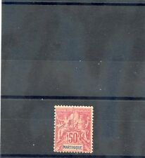 MARTINIQUE Sc 48(41)*F-VF HR 1892 50c ROSE $100
