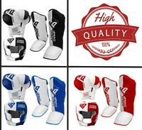 Kids Boxing Gloves Head Guard Shin Pads Junior Kick Boxing Mitts MMA UFC