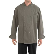 NEW MEN CHEFWEAR WINDSOR COTTON CHEF COAT GREY Size XS-5XL
