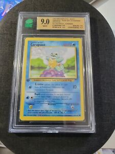 Carte Pokémon Carapuce 63/102 Set de Base Wizards Édition 1 MNT 9 PCA9.5 PSA9