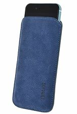 Exclusive Leather Cellphone Case Pebble Blue Protector Cover for Iphone 7