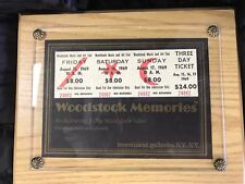 Woodstock 3 Day August 15,1969 Ticket!
