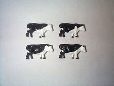Lionel Black & White Milk Cows YOU GET 4 COWS ALL WITH DIFFERENT MARKINGS EX!