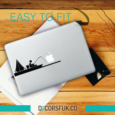 PESCATORE MacBook adesivi in vinile nero | Laptop Adesivi | MacBook Decalcomanie