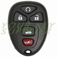 Brand New Replacement Keyless Remote Key Fob Transmitter 5 Buttons Remote Start
