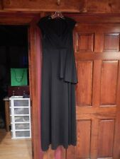 Accents Performance Apparel choral gown black cap sleeve full length size 8