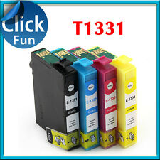 4 x Ink Cartridge T1331-4 T133 for Epson N11 T25 NX125 NX130 NX420 NX430 Printer