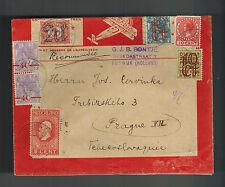1925 Rijswijk Netherlands airmail Cover to Prague Cazheoslovakia Morocco Envelop