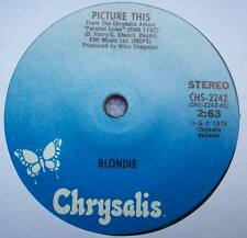 BLONDIE Picture This USA SOLID CENTRE Chrysalis EX+ NEW WAVE Debbis Harry