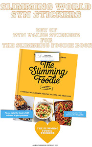 🔥SALE🔥SLIMMING WORLD SYN VALUE STICKERS  FOR THE SLIMMING FOODIE BOOK