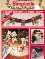Simplicity Holiday Decorating w Ribbon #3765 Booklet Full Size Pattern Included